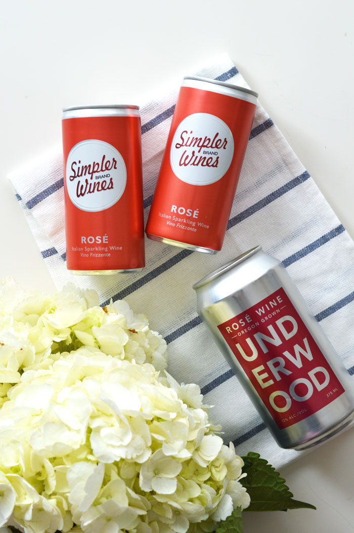 Canned Trader Joe's Rosé | @dcgirlinpearls