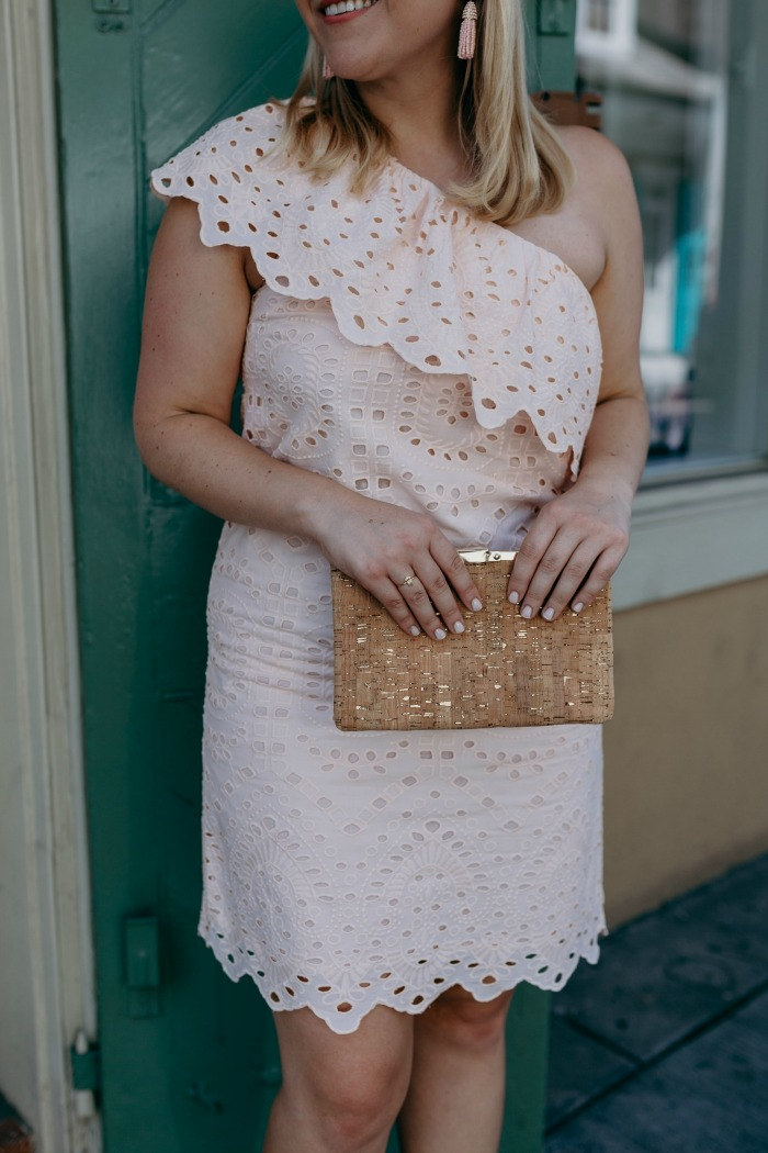 Blush Eyelet Dress | @dcgirlinpearls