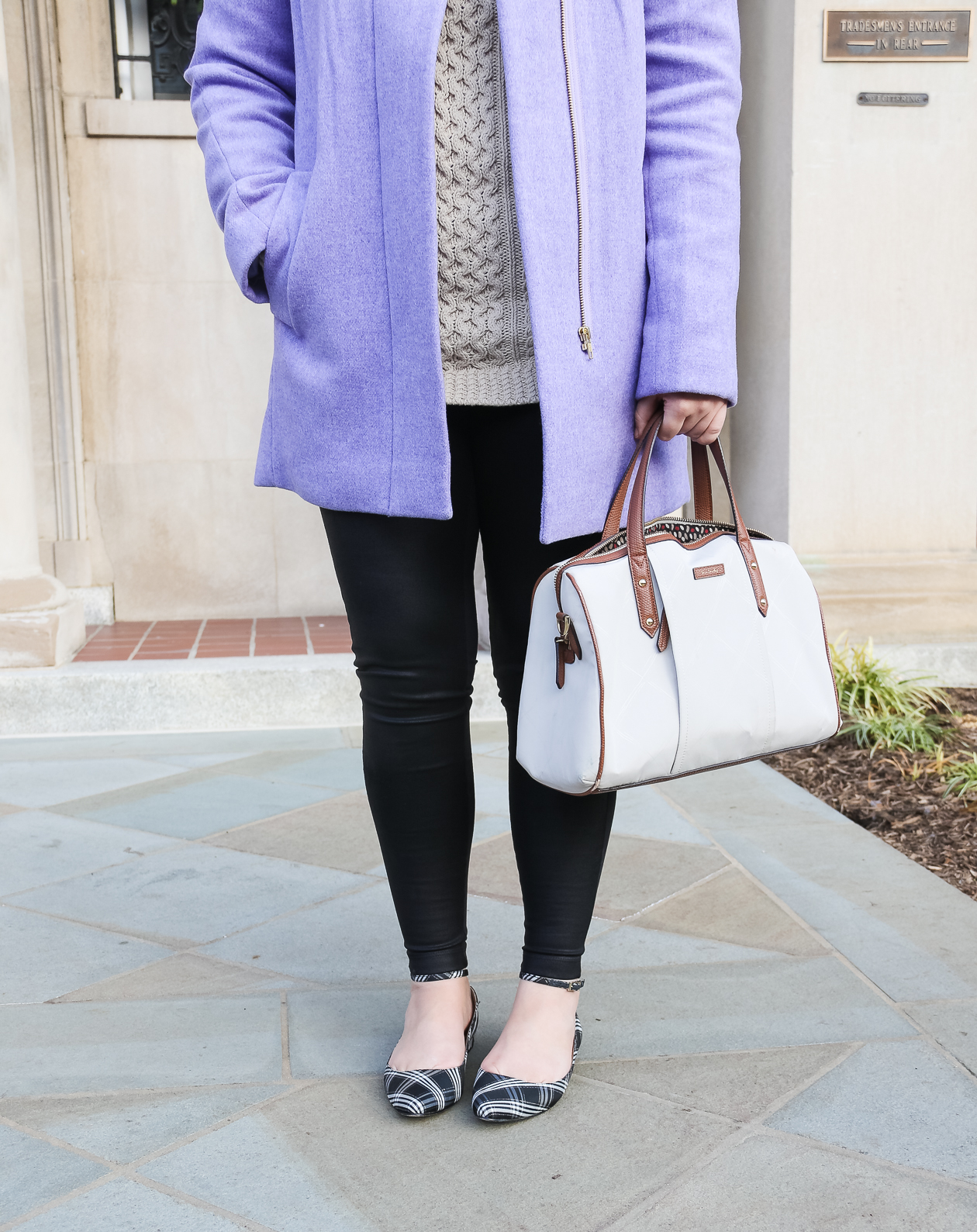 Faux Leather Leggings | @dcgirlinpearls